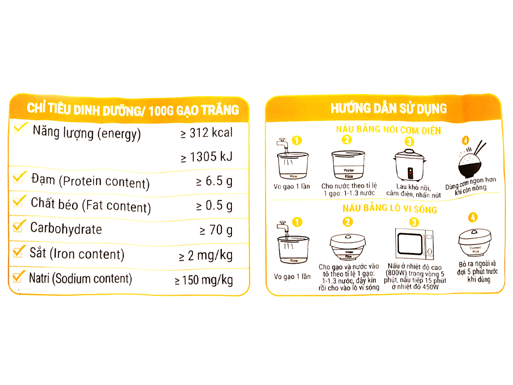 Gạo thơm Vua Gạo Phù Sa túi 5kg 9
