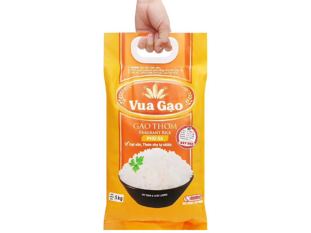 Gạo thơm Vua Gạo Phù Sa túi 5kg 10