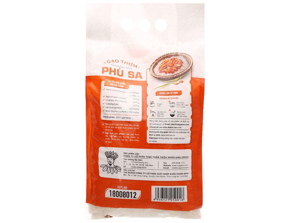 Gạo thơm Vua Gạo Phù Sa túi 5kg 2