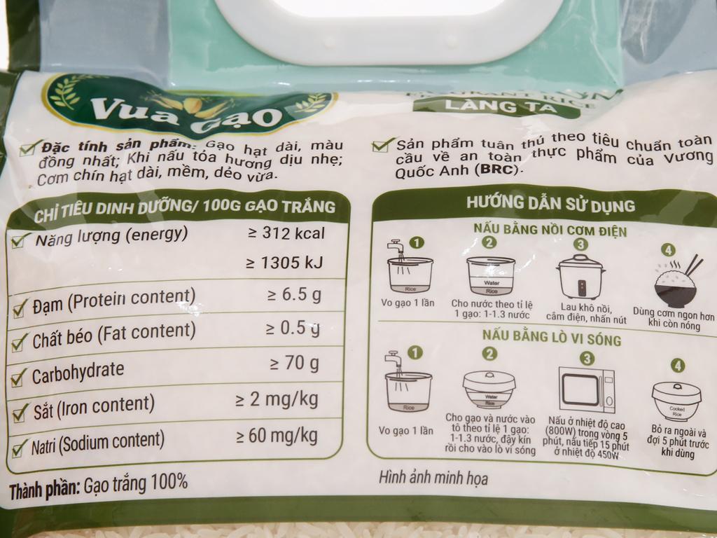 Gạo thơm Vua Gạo Làng Ta túi 5kg 4