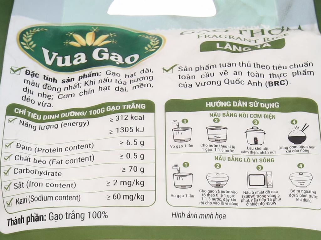 Gạo thơm Vua Gạo Làng Ta túi 2kg 4