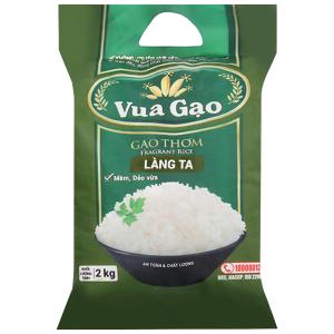 Gạo thơm Vua Gạo Làng Ta túi 2kg