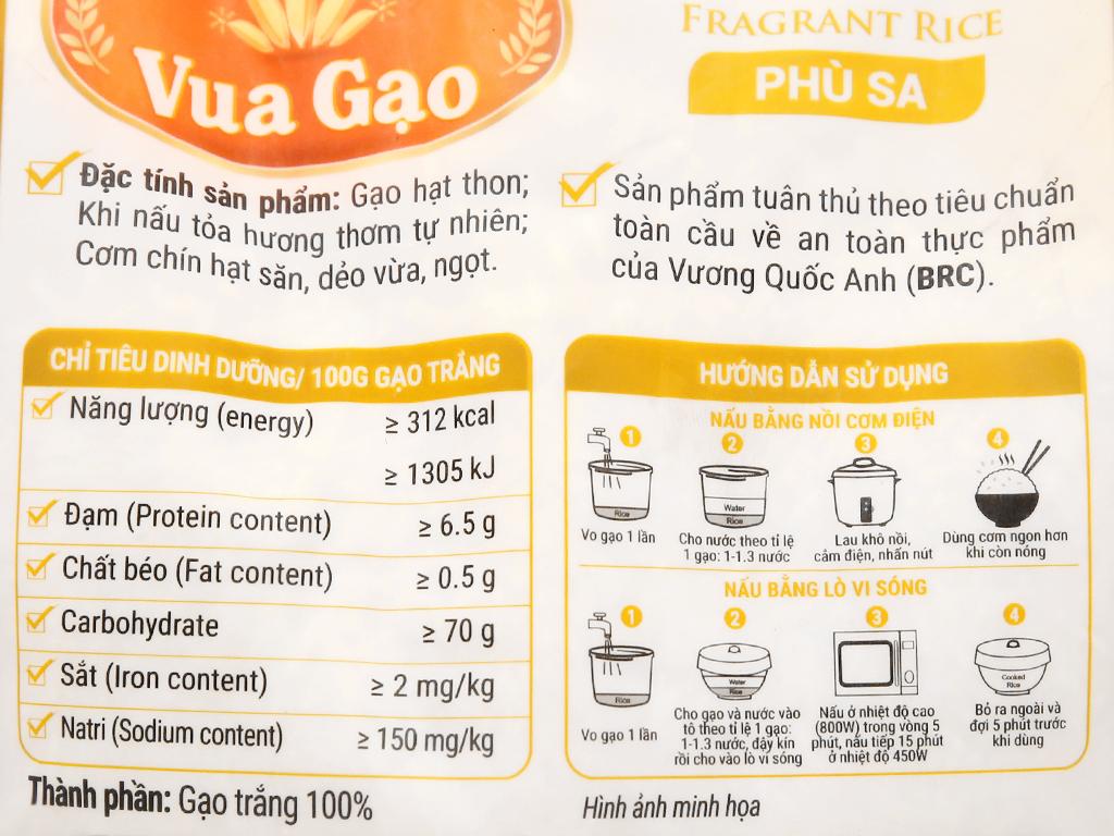 Gạo thơm Vua Gạo Phù Sa túi 2kg 8