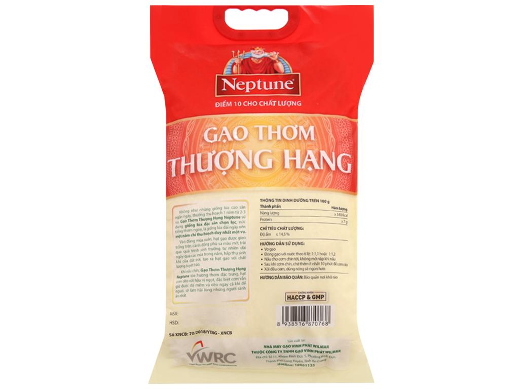 Gạo thơm thượng hạng Neptune túi 5kg 3