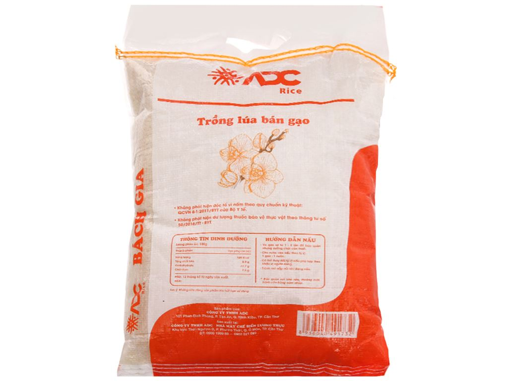 Gạo ADC Bách Gia túi 5kg 3