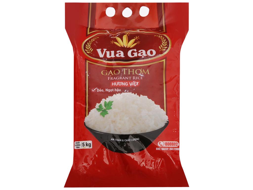 Gạo thơm Vua Gạo Hương Việt túi 5kg 1