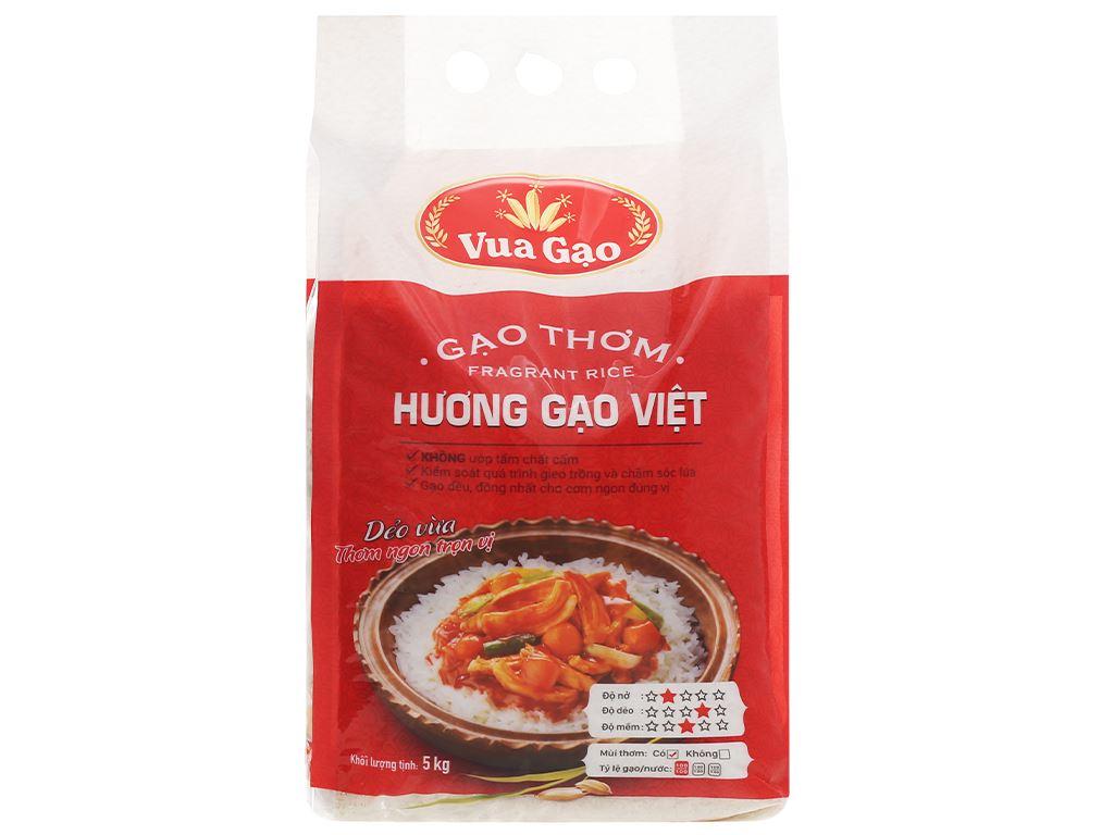 Gạo thơm Vua Gạo Hương Việt túi 5kg 5