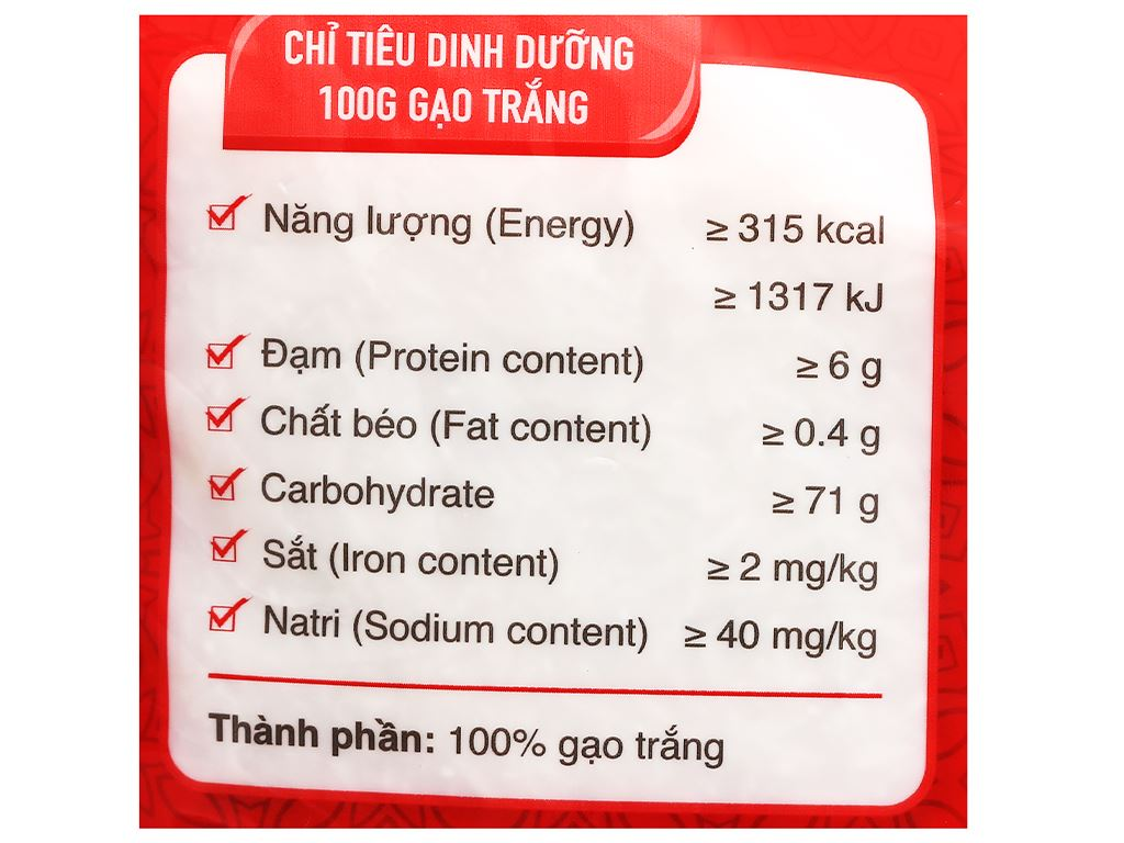 Gạo thơm Vua Gạo Hương Việt túi 5kg 8