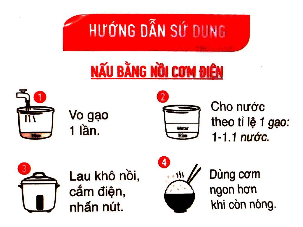 Gạo thơm Vua Gạo Hương Việt túi 5kg 9