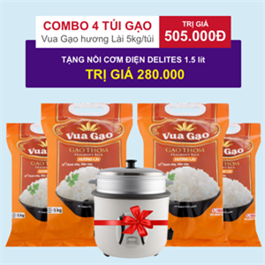 Gạo thơm Vua Gạo hương Lài 5kg