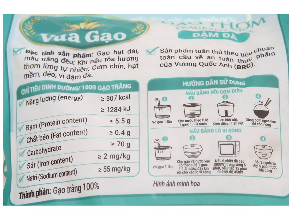 Gạo thơm Vua Gạo Đậm Đà túi 2kg 4
