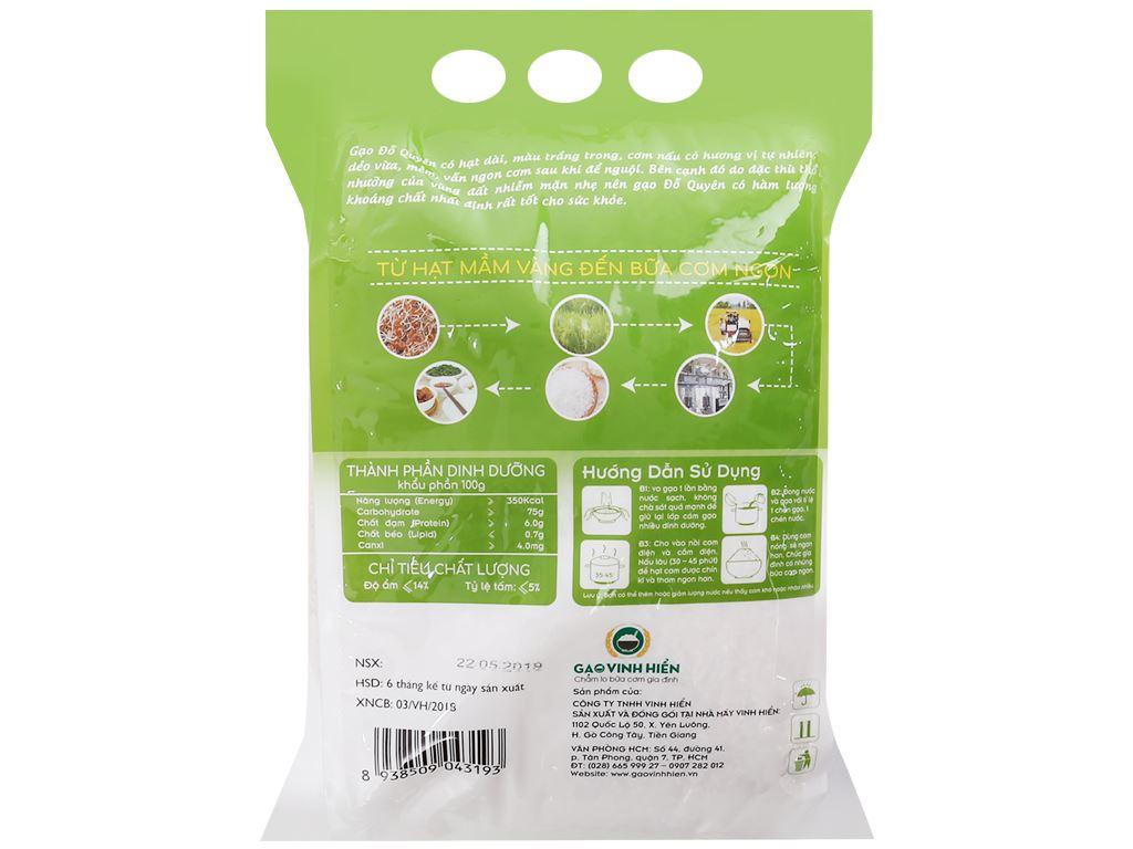 Gạo Vinh Hiển Đỗ Quyên túi 5kg 2