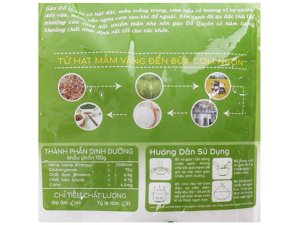 Gạo Vinh Hiển Đỗ Quyên túi 5kg 3
