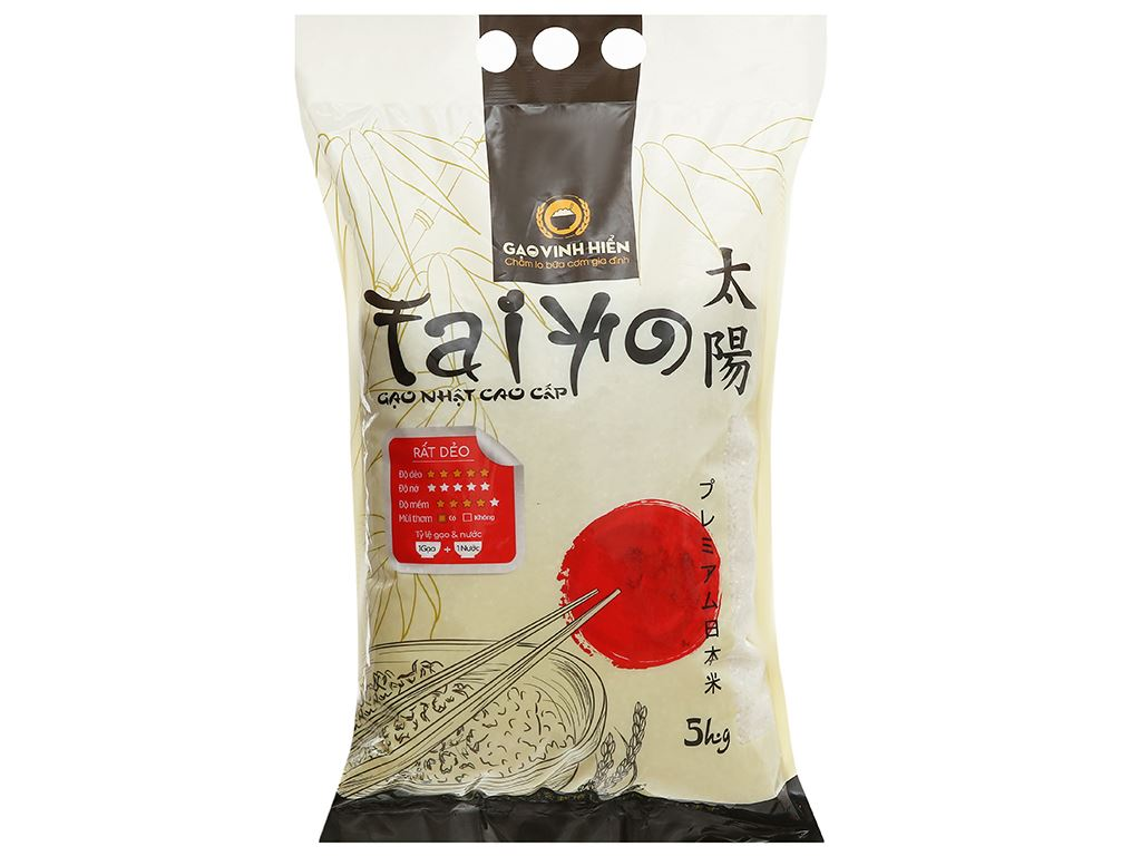 Gạo giống Nhật Bản Vinh Hiển Taiyo túi 5kg 4