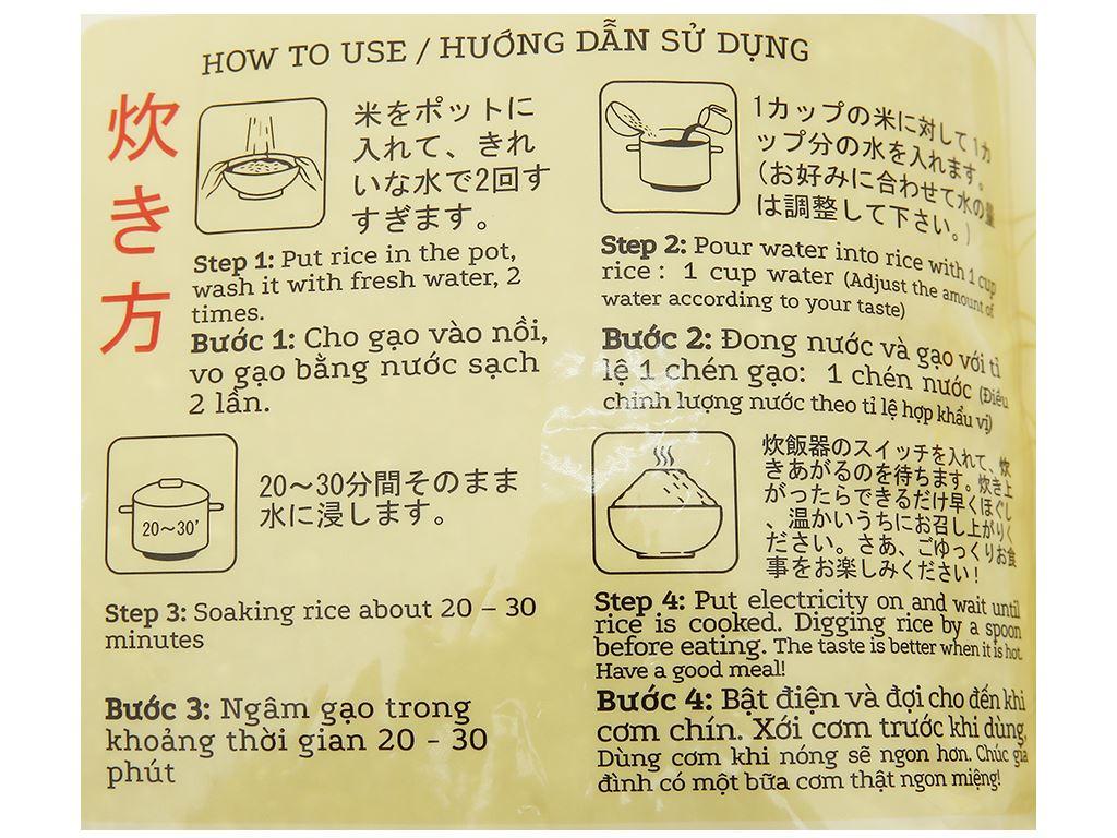 Gạo giống Nhật Bản Vinh Hiển Taiyo túi 5kg 7