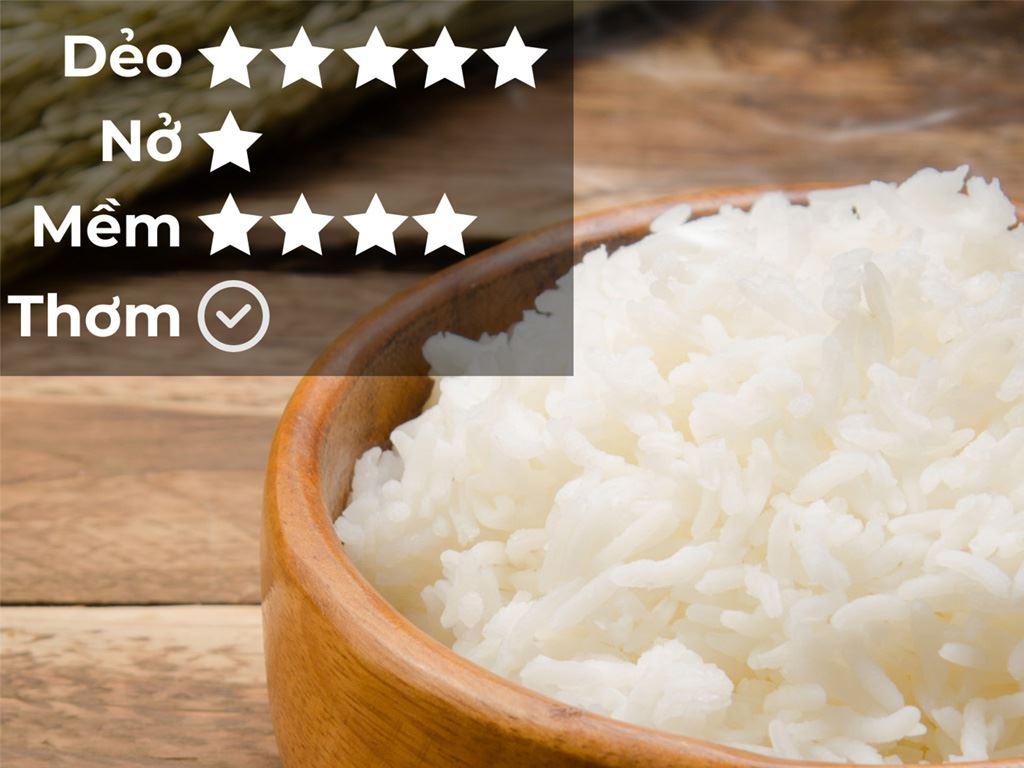 Gạo Cỏ May Long Châu 66 hút chân không túi 5kg 5