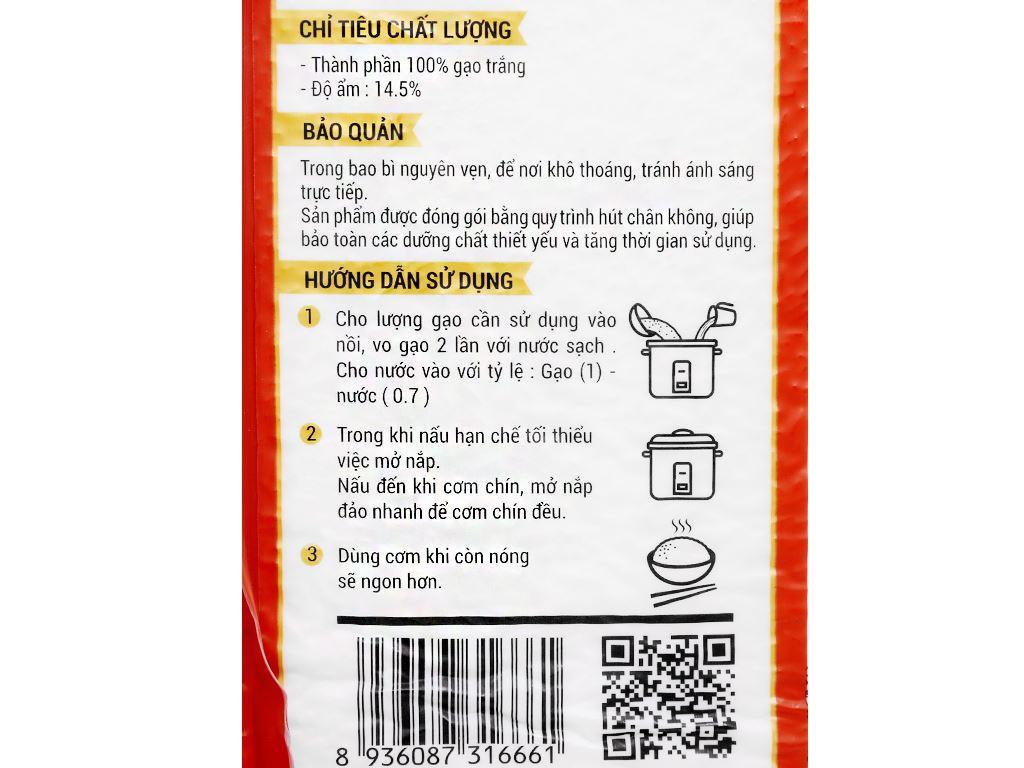 Gạo Cỏ May Long Châu 66 hút chân không túi 5kg 9