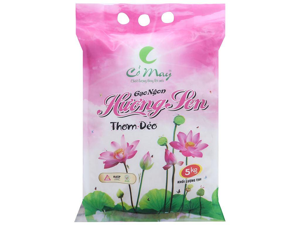 Gạo Cỏ May Hương Sen túi 5kg 1