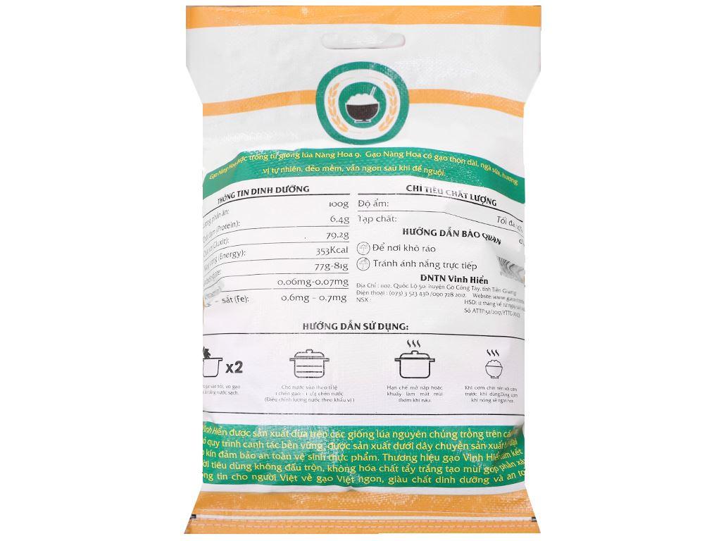 Gạo Nàng Hoa Vinh Hiển túi 10kg 2
