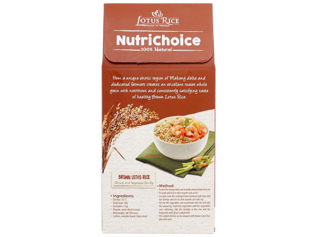 Gạo lứt Jasmine hương lài hạt chia Lotus Rice NutriChoice hộp 0,5kg 2