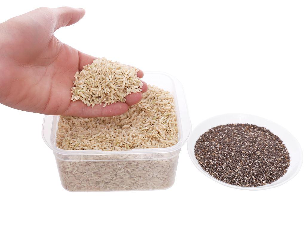 Gạo lứt Jasmine hương lài hạt chia Lotus Rice NutriChoice hộp 0,5kg 4