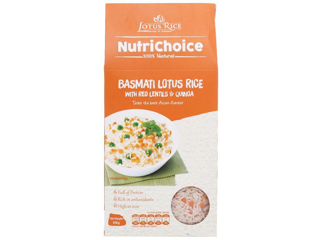 Gạo Hoa Xuân đậu lăng và diêm mạch Lotus Rice NutriChoice hộp 0,5kg 1