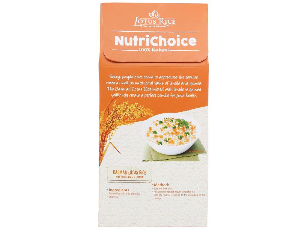 Gạo Hoa Xuân đậu lăng và diêm mạch Lotus Rice NutriChoice hộp 0,5kg 2