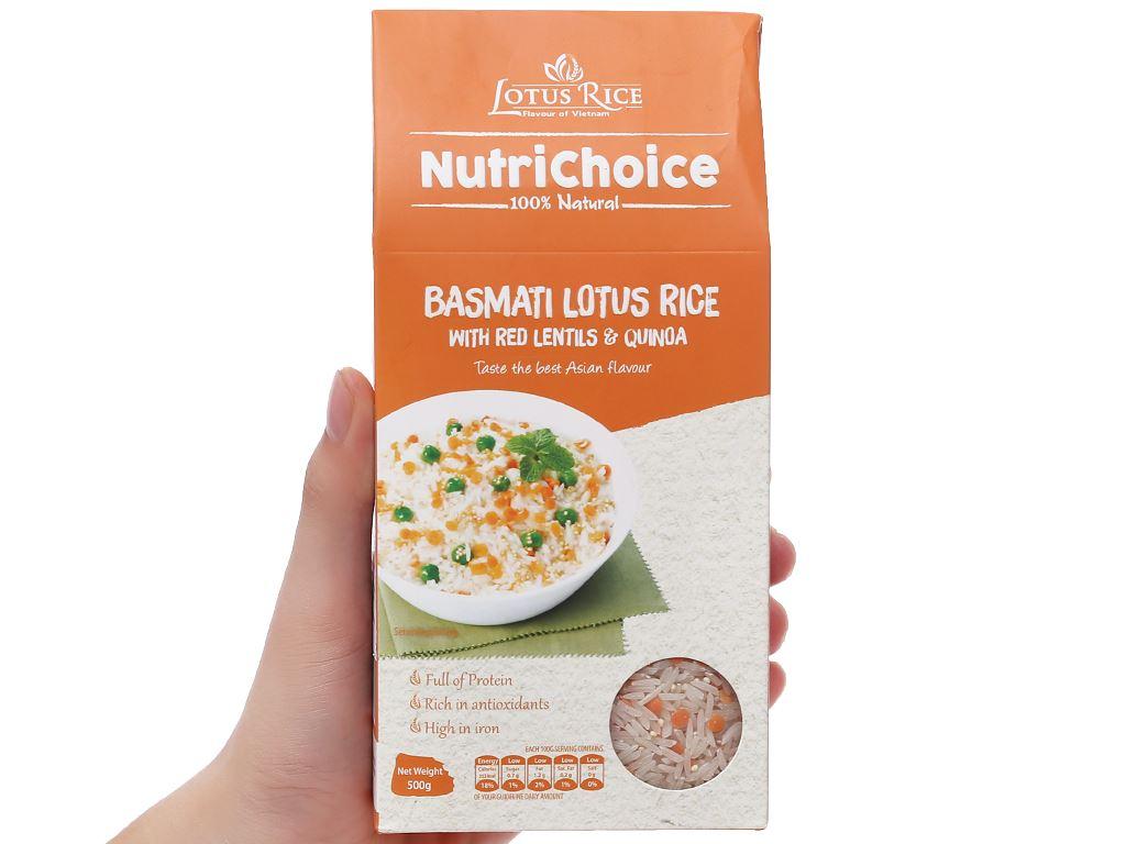 Gạo Hoa Xuân đậu lăng và diêm mạch Lotus Rice NutriChoice hộp 0,5kg 3