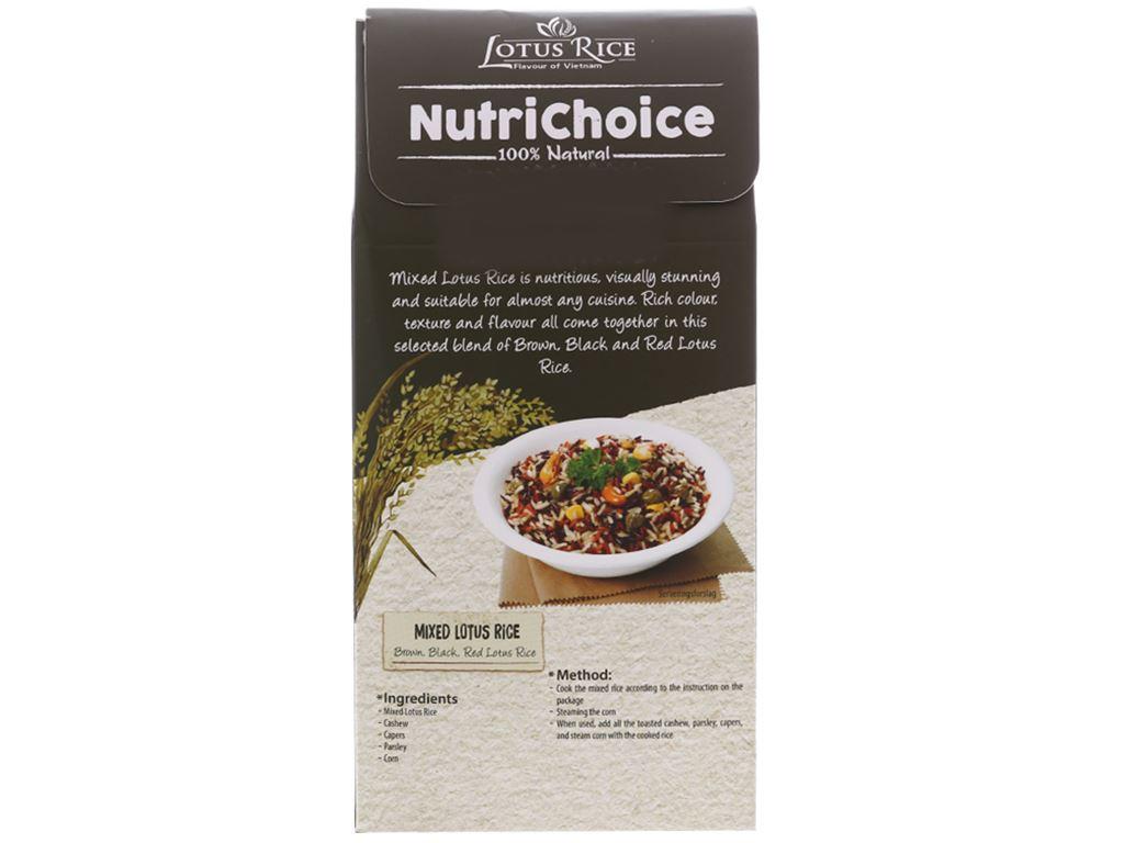 Gạo hỗn hợp Tấm Cám Lotus Rice NutriChoice hộp 0,5kg 2