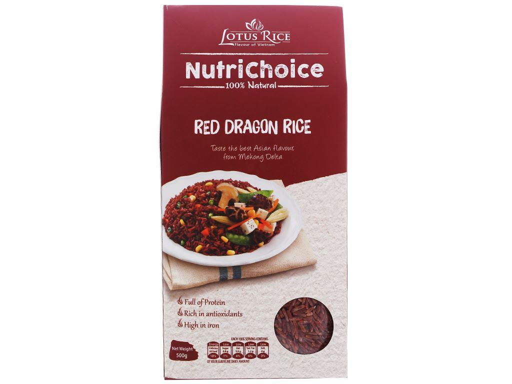 Gạo huyết rồng Lotus Rice NutriChoice hộp 0,5kg 1