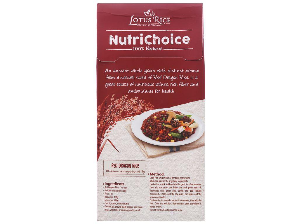 Gạo huyết rồng Lotus Rice NutriChoice hộp 0,5kg 2