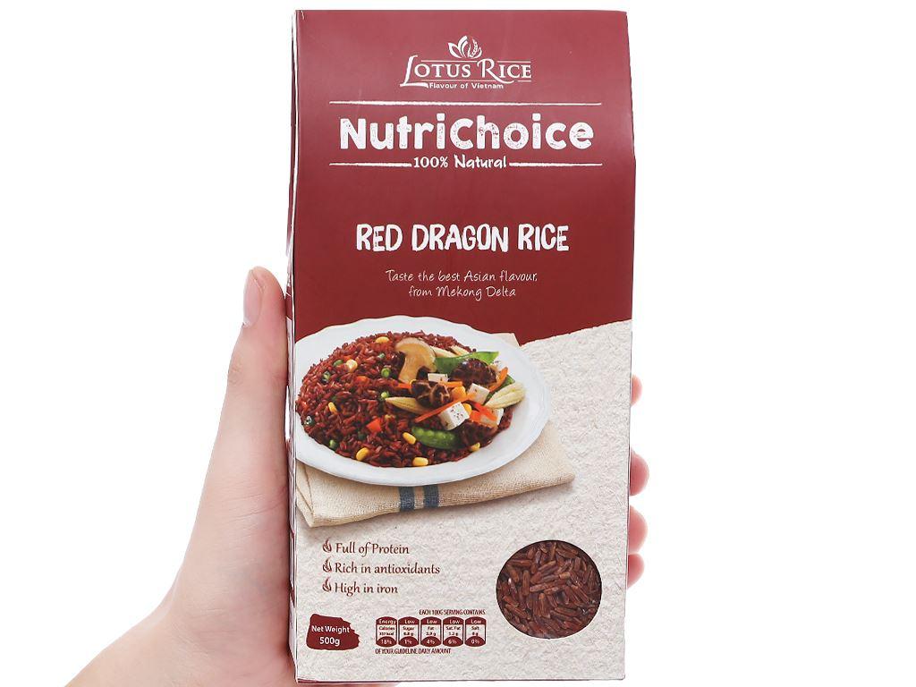 Gạo huyết rồng Lotus Rice NutriChoice hộp 0,5kg 3