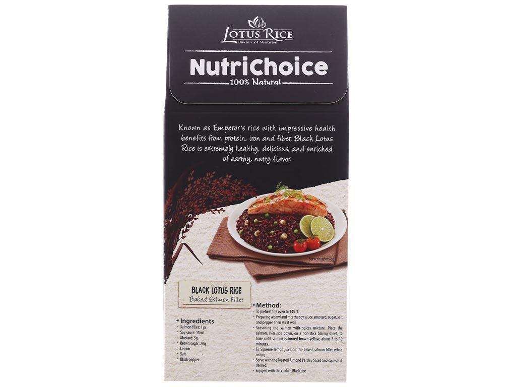 Gạo tím than Lotus Rice NutriChoice hộp 0,5kg 2