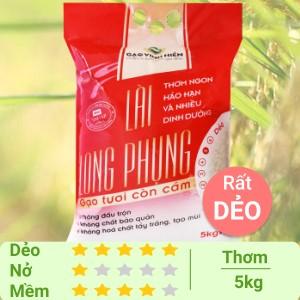Gạo còn cám Vinh Hiển Lài Long Phụng túi 5kg