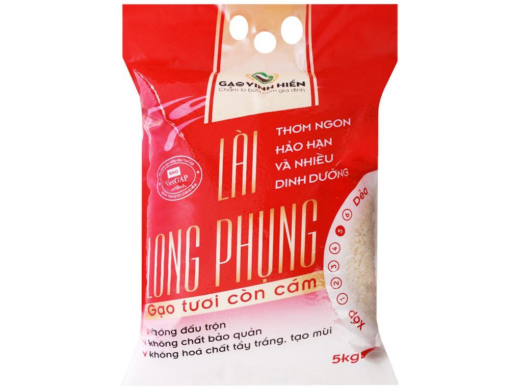 Gạo còn cám Vinh Hiển Lài Long Phụng túi 5kg 1