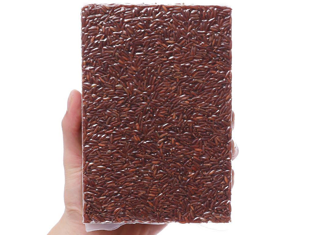 Gạo lứt hữu cơ Ecoba Huyết Rồng hộp 1kg 6