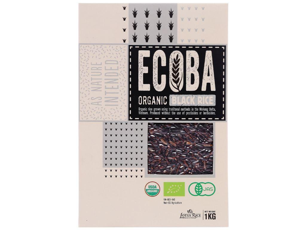 Gạo lứt đen hữu cơ Ecoba Huyền Mễ hộp 1kg 1