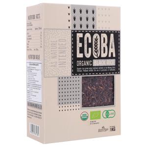 Gạo lứt đen hữu cơ Ecoba Huyền Mễ hộp 1kg