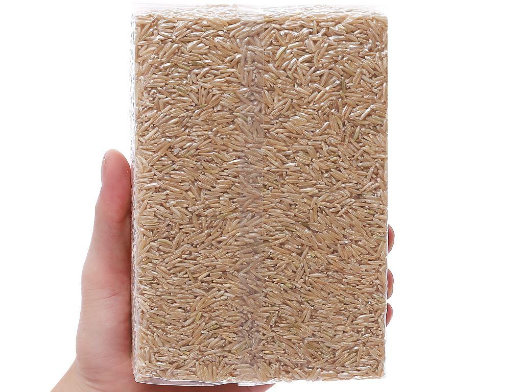 Gạo lứt nâu hữu cơ Ecoba Kim Mễ hộp 1kg 6