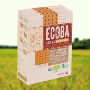 Gạo lứt nâu hữu cơ Ecoba Kim Mễ hộp 1kg