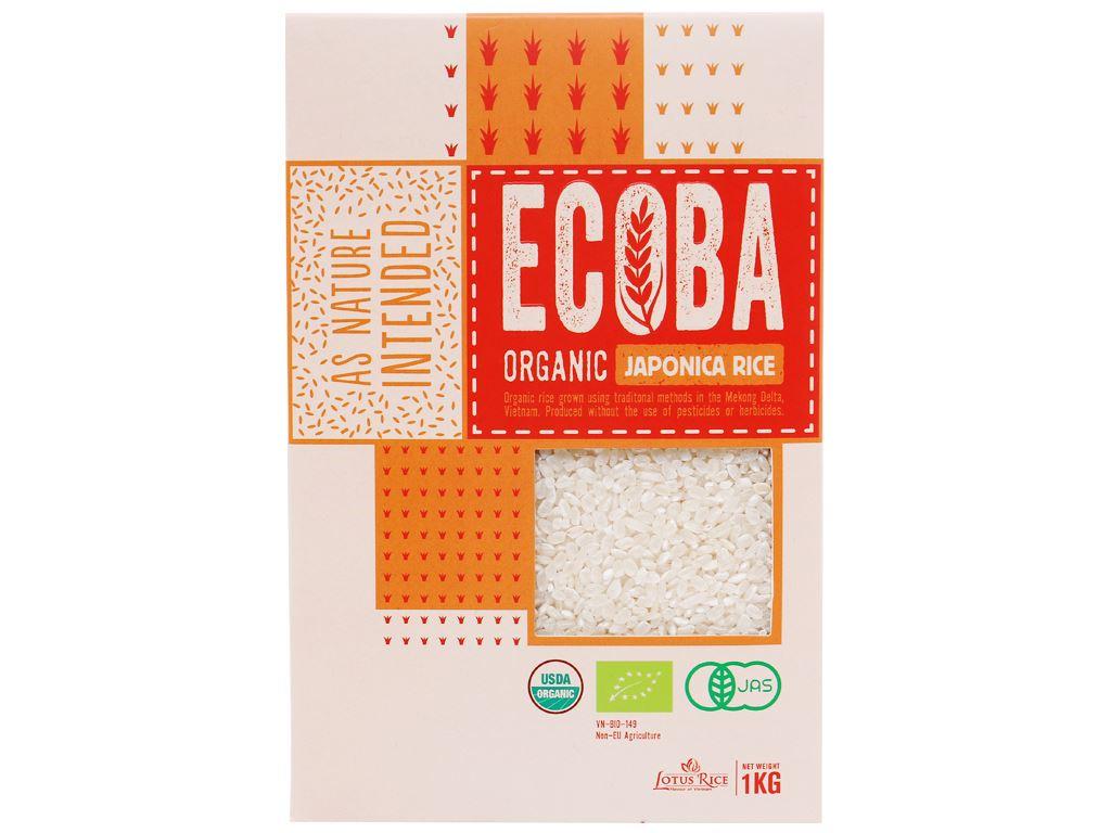 Gạo Nhật hữu cơ Ecoba Anh Đào hộp 1kg 1