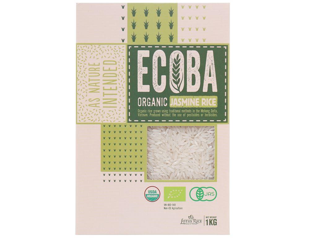 Gạo trắng hương lài hữu cơ Ecoba Ngọc Mễ hộp 1kg 1