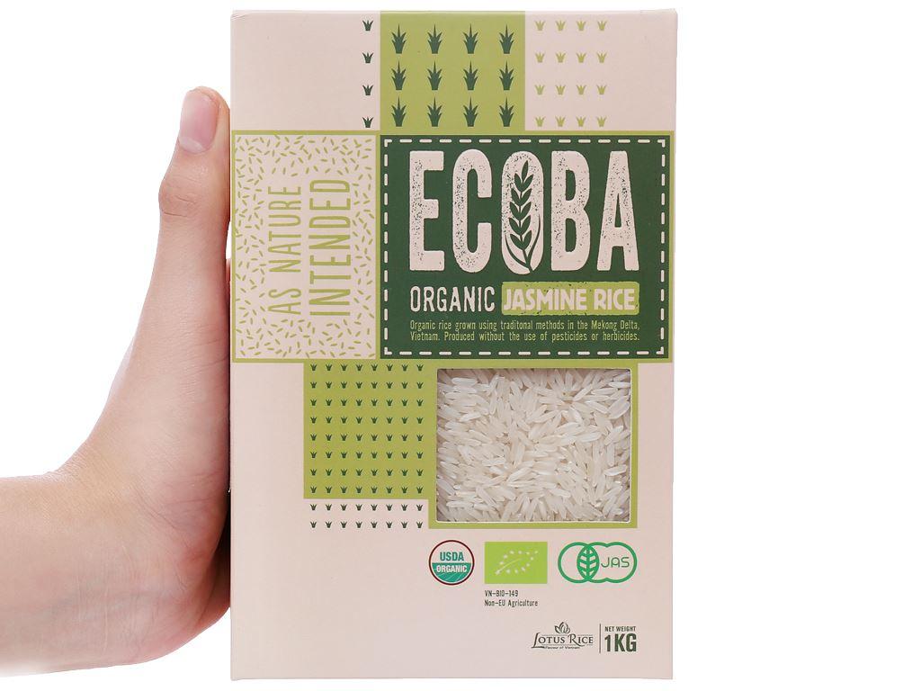 Gạo trắng hương lài hữu cơ Ecoba Ngọc Mễ hộp 1kg 4