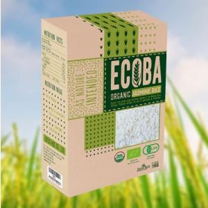 Gạo trắng hương lài hữu cơ Ecoba Ngọc Mễ hộp 1kg