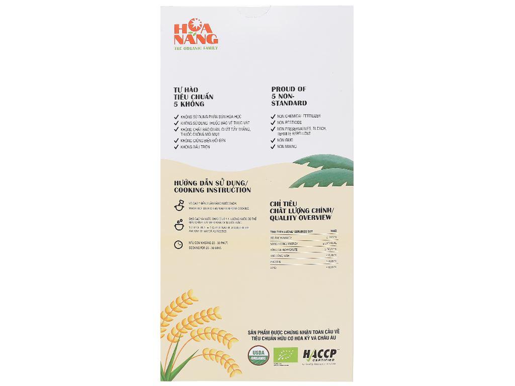 Gạo hữu cơ Hoa Nắng Vàng lúa chín hộp 2kg 2