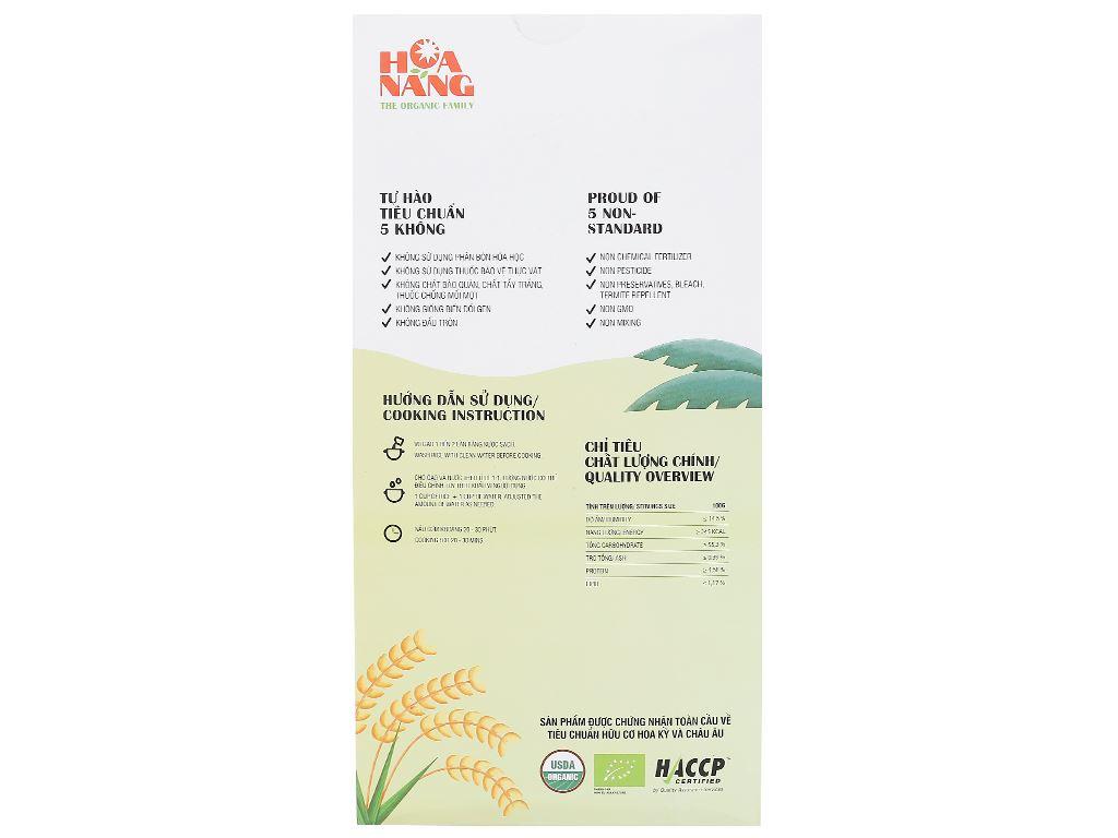 Gạo hữu cơ Hoa Nắng Xanh mạ non hộp 2kg 2