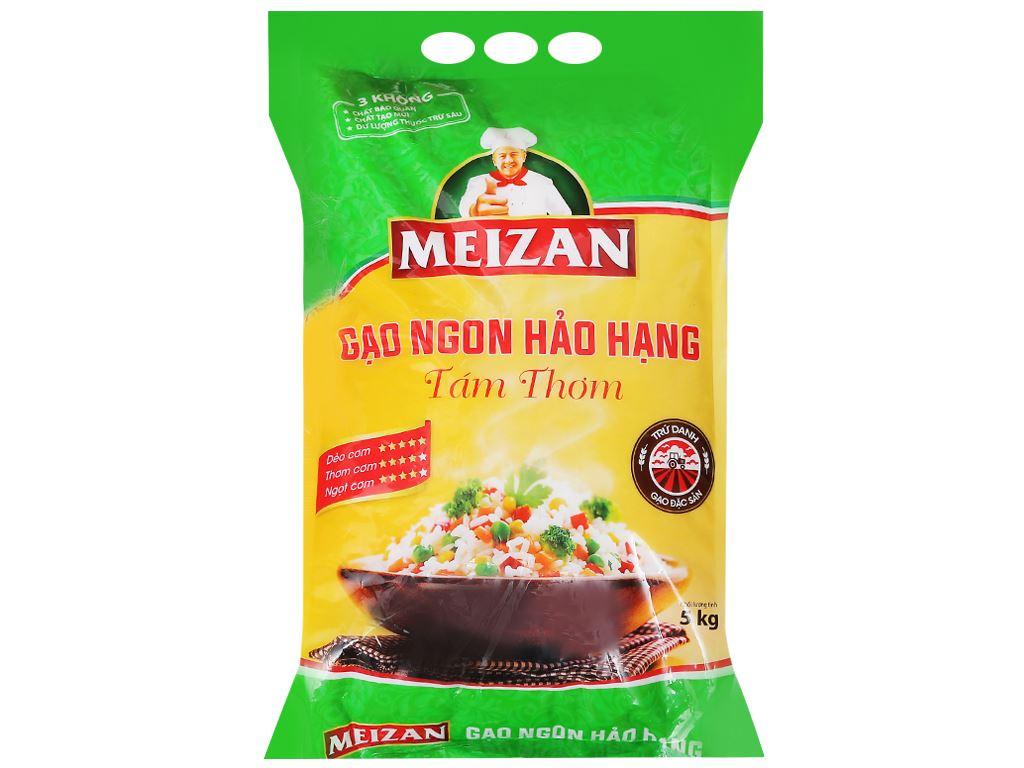 Gạo Tám thơm Meizan túi 5kg 1