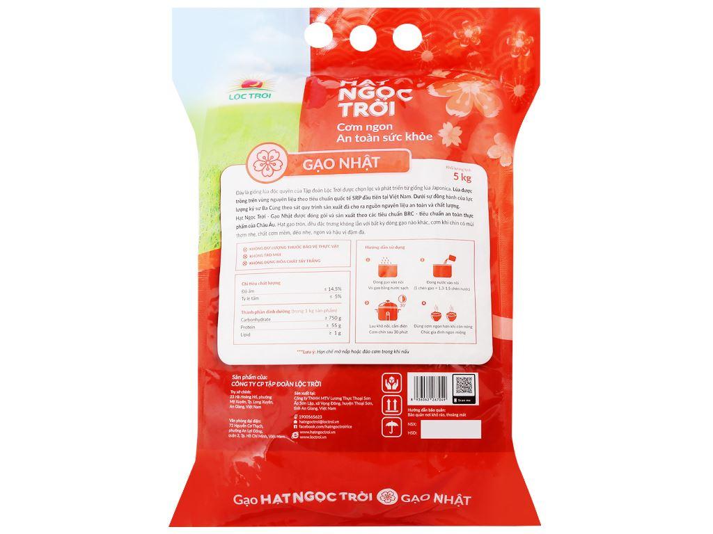 Gạo Hạt Ngọc Trời giống Nhật túi 5kg 2