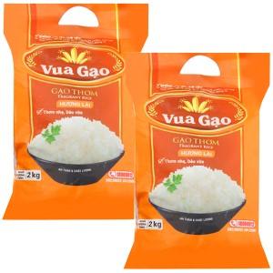 Combo 2 túi gạo thơm hương lài Vua Gạo 2kg