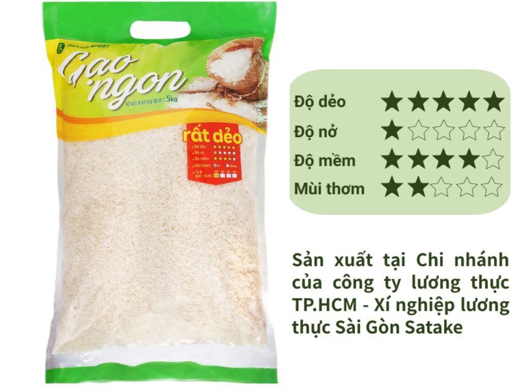 Gạo ngon Bách hoá XANH túi 5kg 1